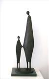 No. 112   'Protege' by Jennifer Watt, Sculpture, 'Cast Slate Resin'
